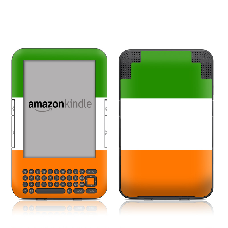 Irish Flag Amazon Kindle 3 Skin