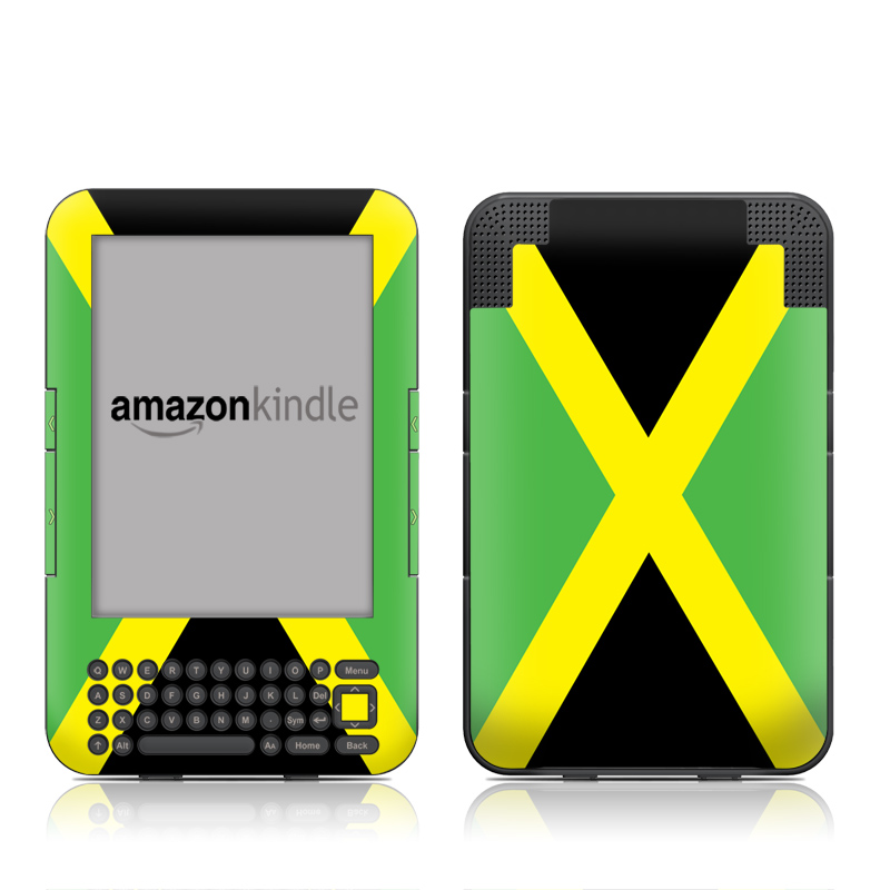 Jamaican Flag Amazon Kindle 3 Skin