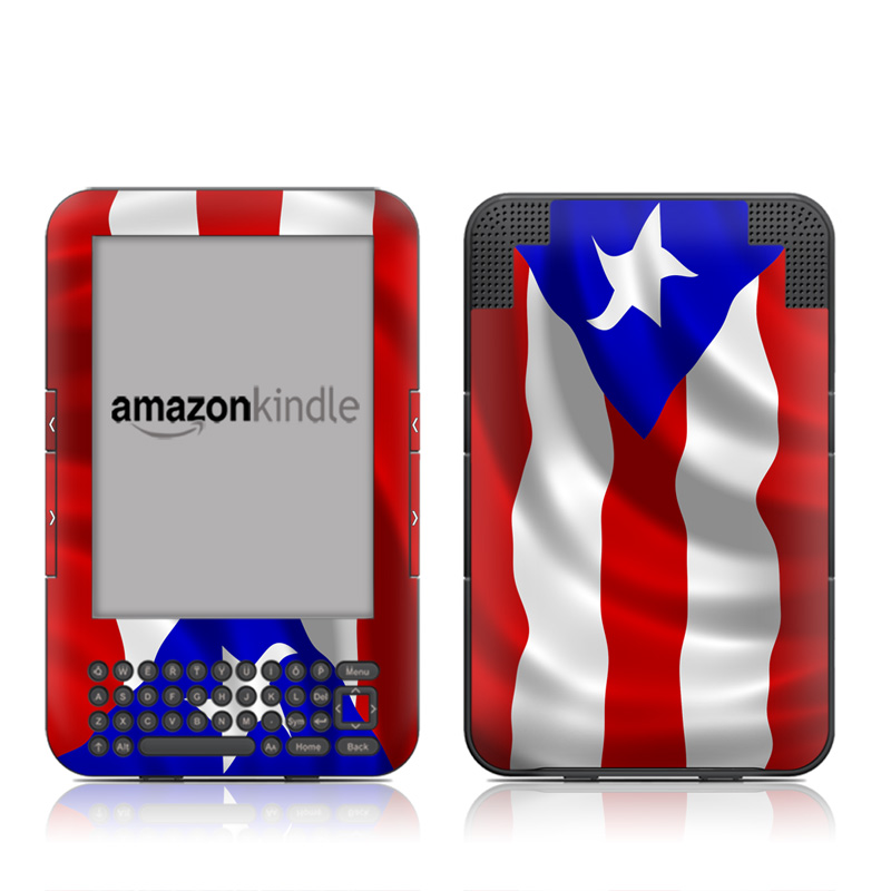 Puerto Rican Flag Amazon Kindle Keyboard Skin