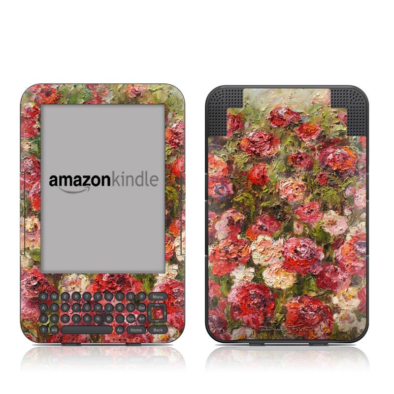 Fleurs Sauvages Amazon Kindle Keyboard Skin