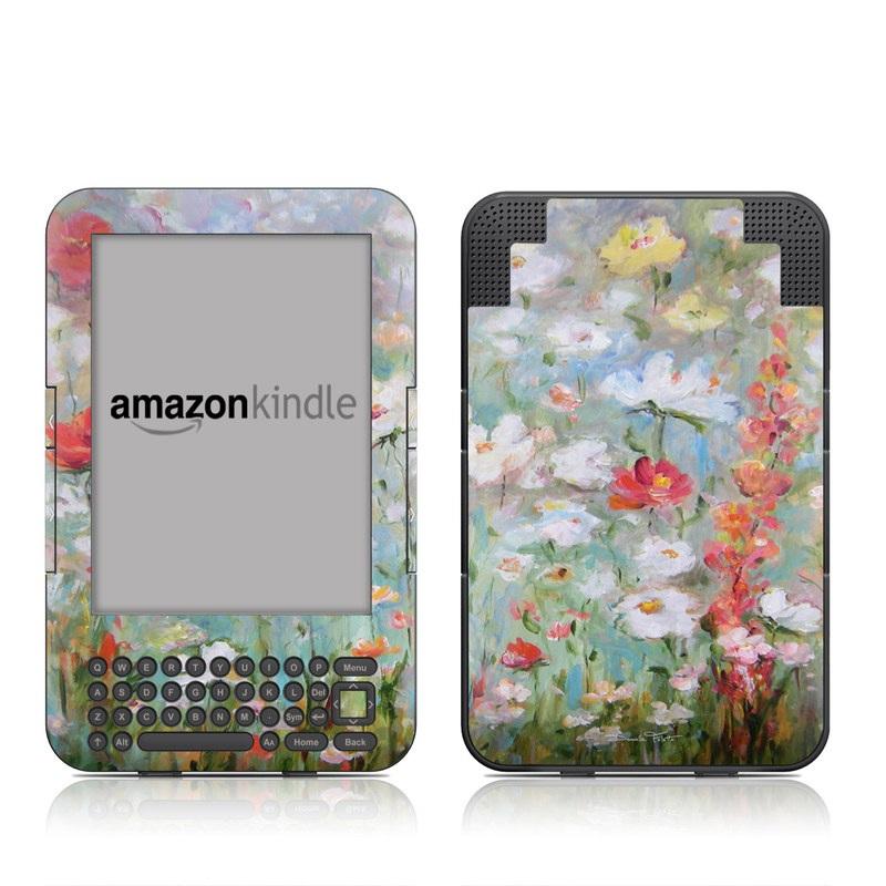 Flower Blooms Amazon Kindle Keyboard Skin