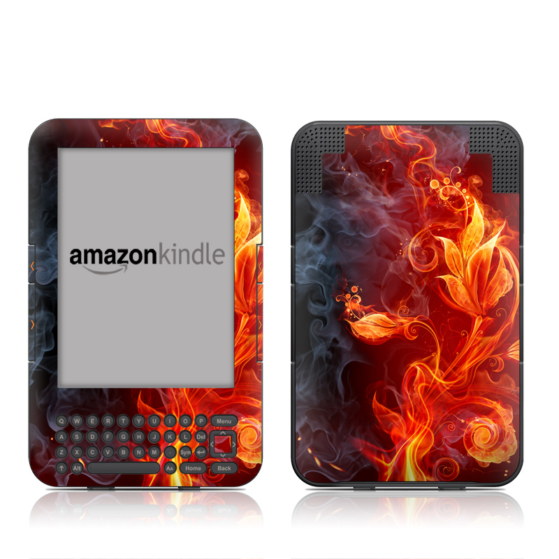 Flower Of Fire Amazon Kindle 3 Skin