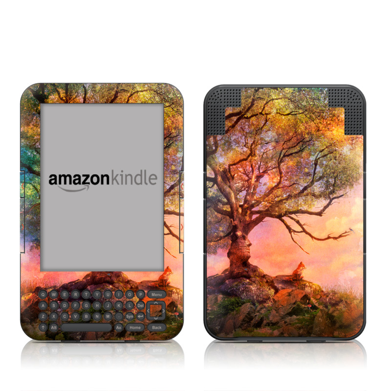 Fox Sunset Amazon Kindle Keyboard Skin