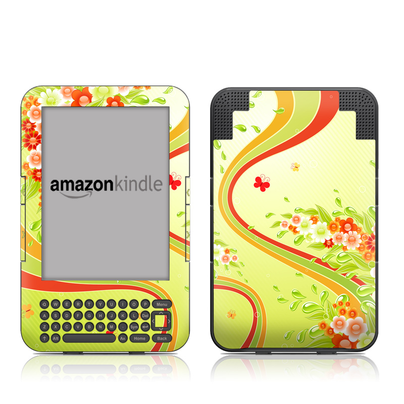Flower Splash Amazon Kindle 3 Skin