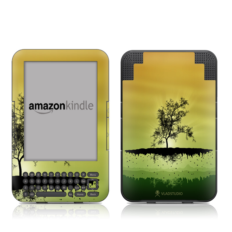 Flying Tree Amber Amazon Kindle Keyboard Skin