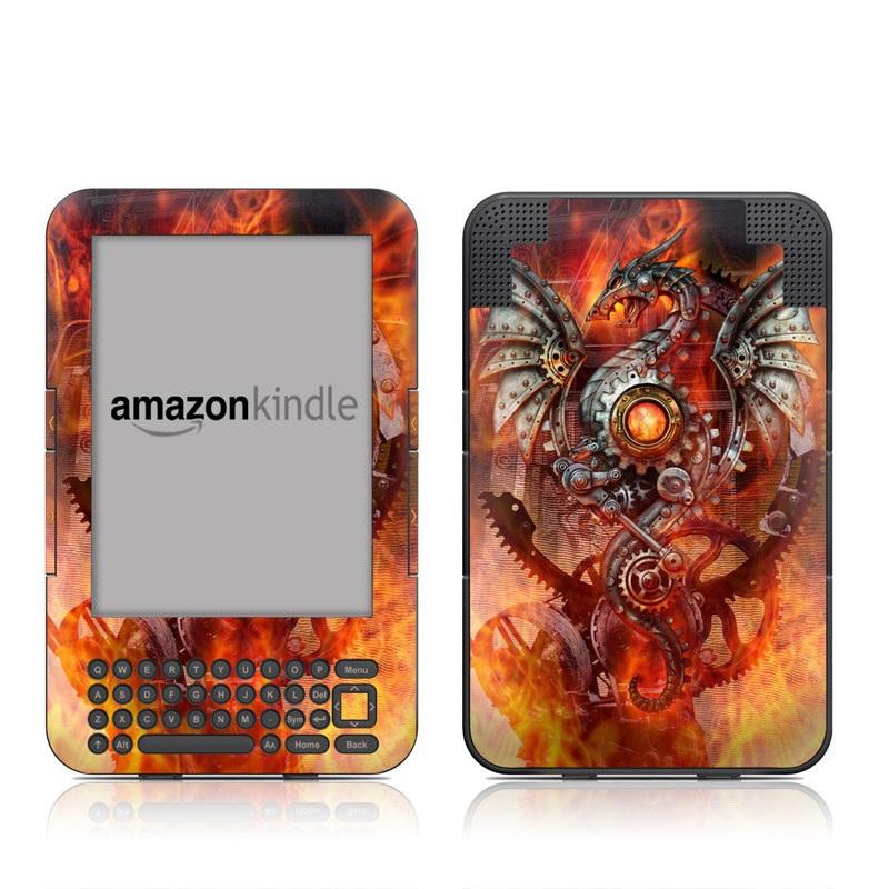 Furnace Dragon Amazon Kindle Keyboard Skin