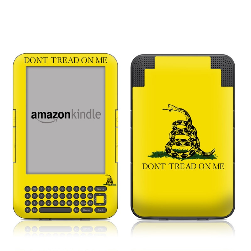 Gadsden Flag Amazon Kindle Keyboard Skin