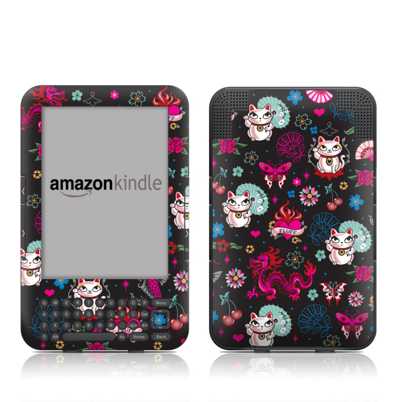 Geisha Kitty Amazon Kindle Keyboard Skin