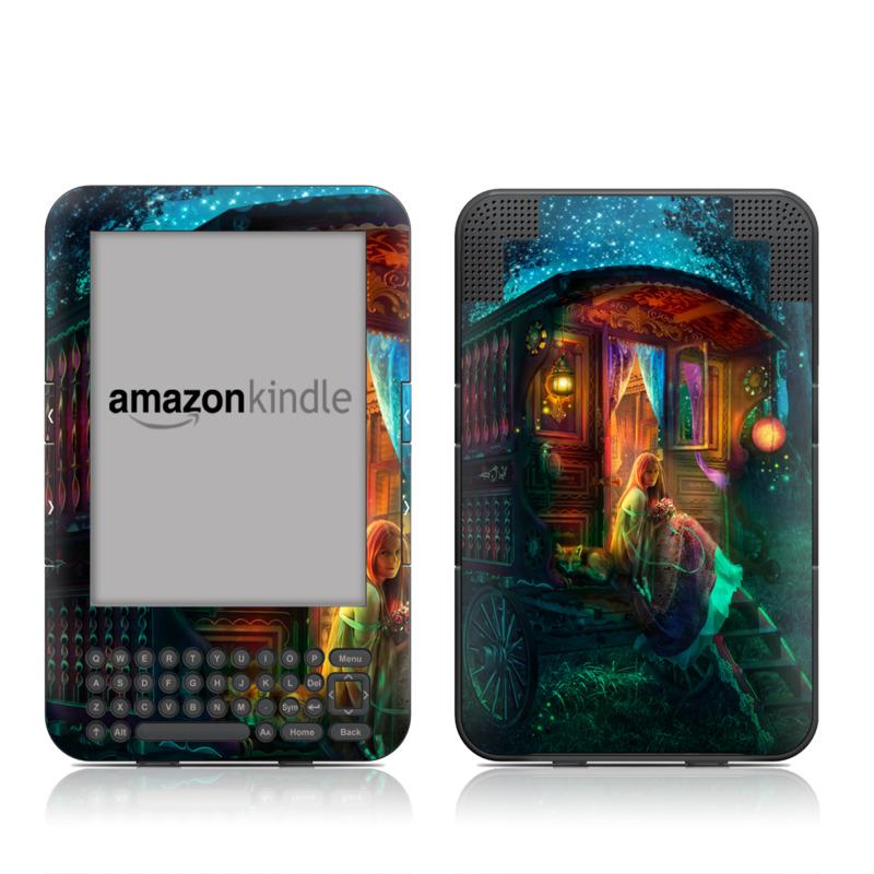 Gypsy Firefly Amazon Kindle Keyboard Skin