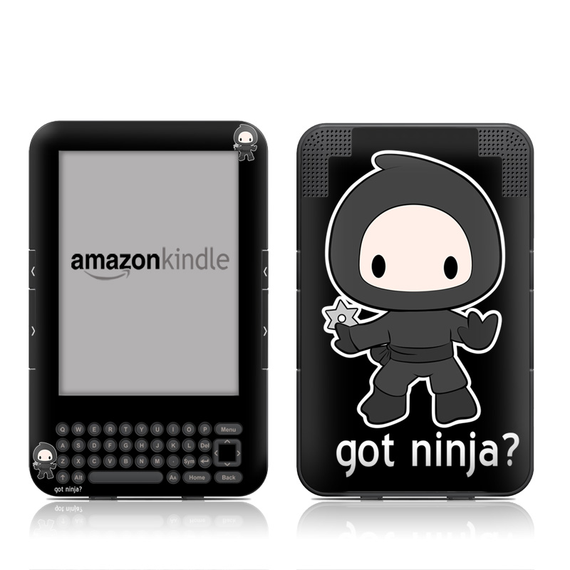 Got Ninja Amazon Kindle Keyboard Skin