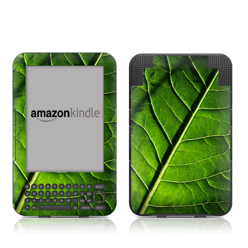 Green Leaf Amazon Kindle 3 Skin