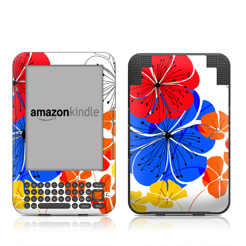 Hibiscus Dance Amazon Kindle Keyboard Skin