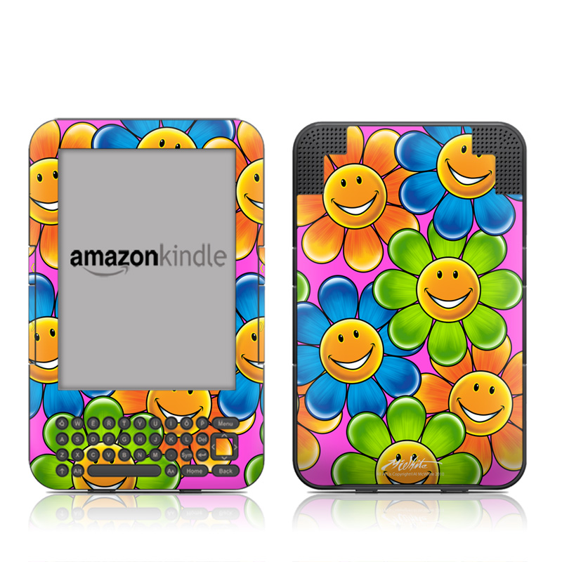 Happy Daisies Amazon Kindle 3 Skin