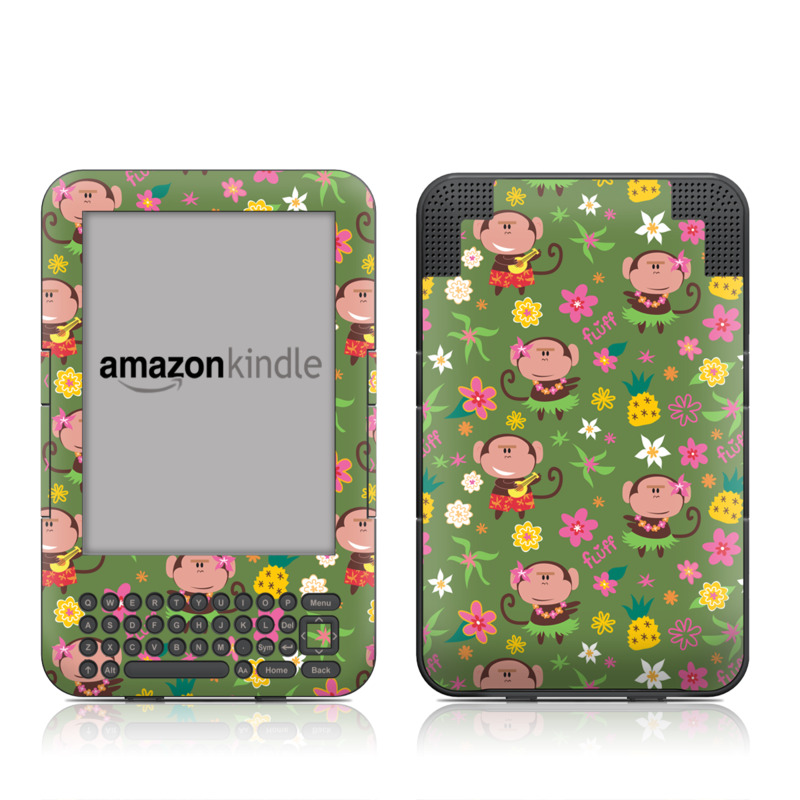Hula Monkeys Amazon Kindle 3 Skin