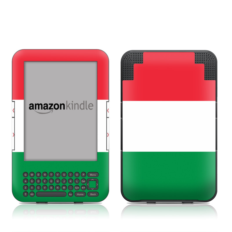 Italian Flag Amazon Kindle Keyboard Skin