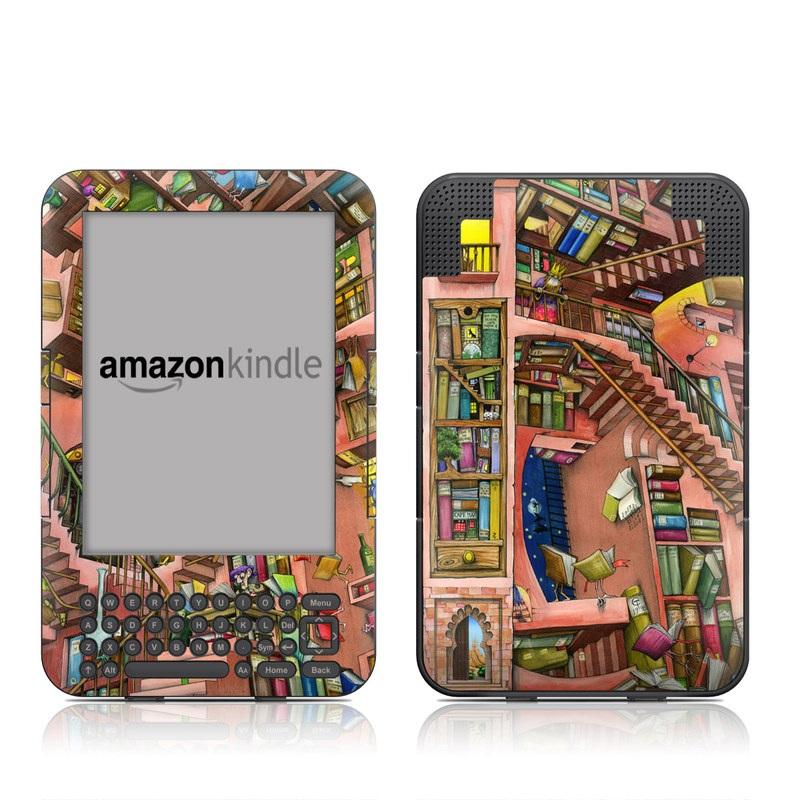 Library Magic Amazon Kindle Keyboard Skin