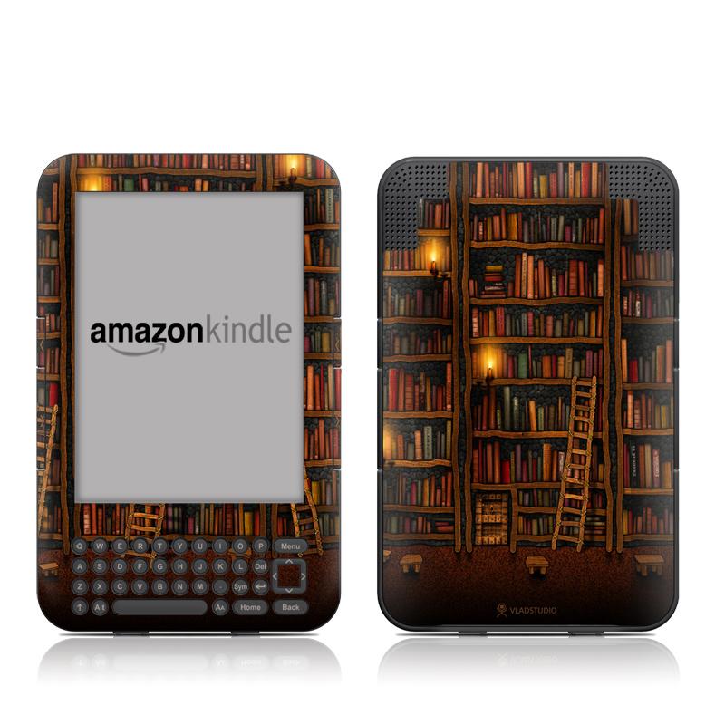 Library Amazon Kindle 3 Skin