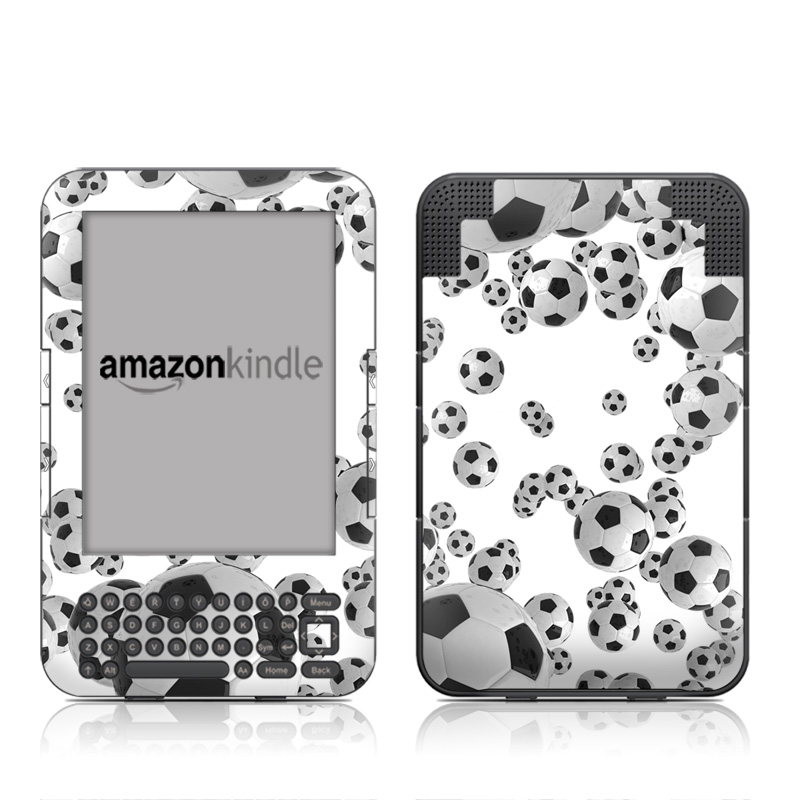 Lots of Soccer Balls Amazon Kindle Keyboard Skin