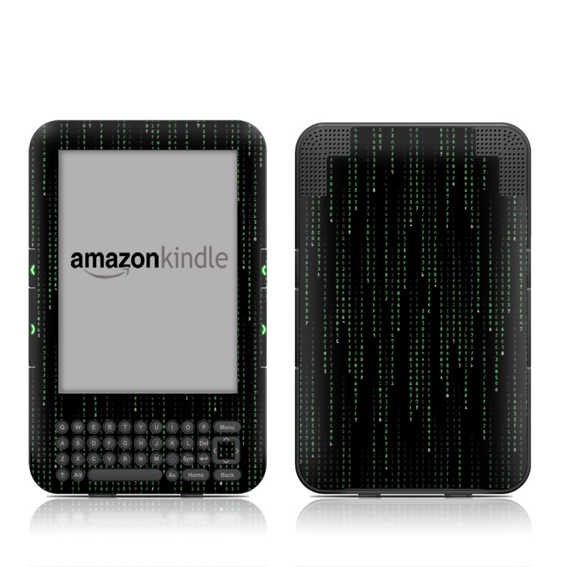 Matrix Style Code Amazon Kindle Keyboard Skin