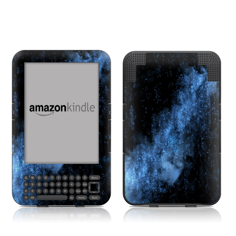 Amazon Kindle 3rd Gen Skin design of Sky, Atmosphere, Black, Blue, Outer space, Atmospheric phenomenon, Astronomical object, Darkness, Universe, Space with black, blue colors