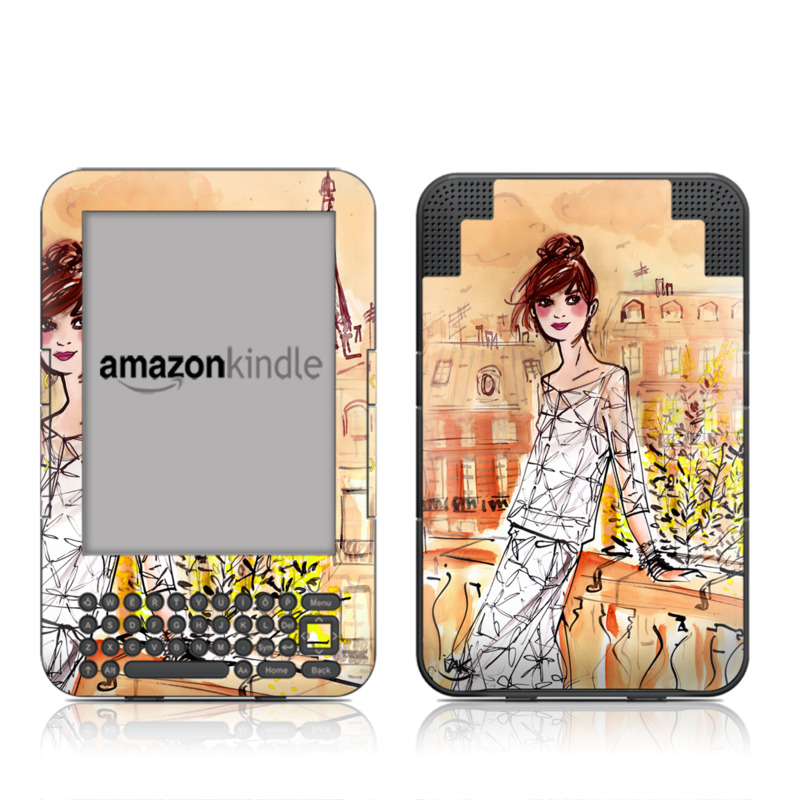 Mimosa Girl Amazon Kindle Keyboard Skin