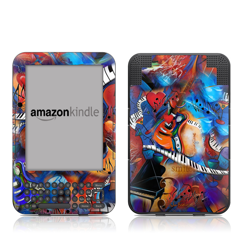 Music Madness Amazon Kindle Keyboard Skin