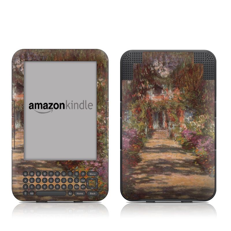 Garden at Giverny Amazon Kindle 3 Skin