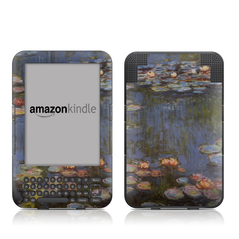 Water lilies Amazon Kindle Keyboard Skin