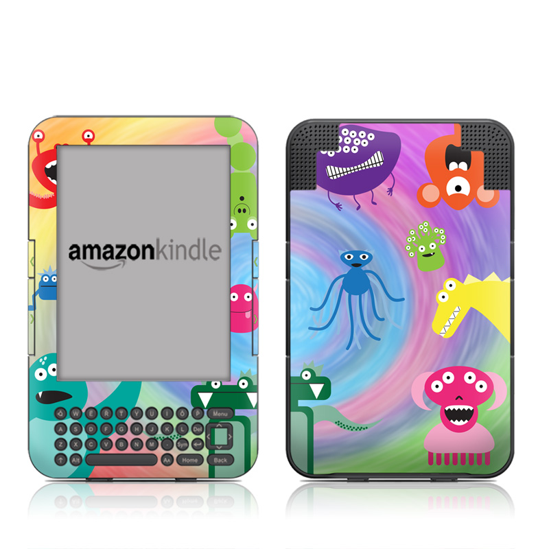 Monster Party Amazon Kindle 3 Skin
