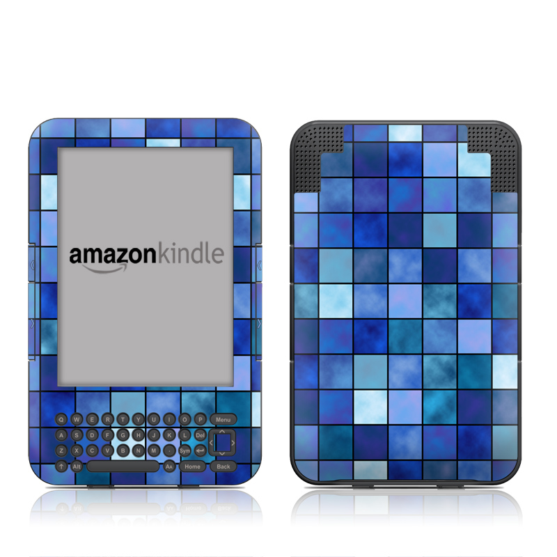 Blue Mosaic Amazon Kindle Keyboard Skin
