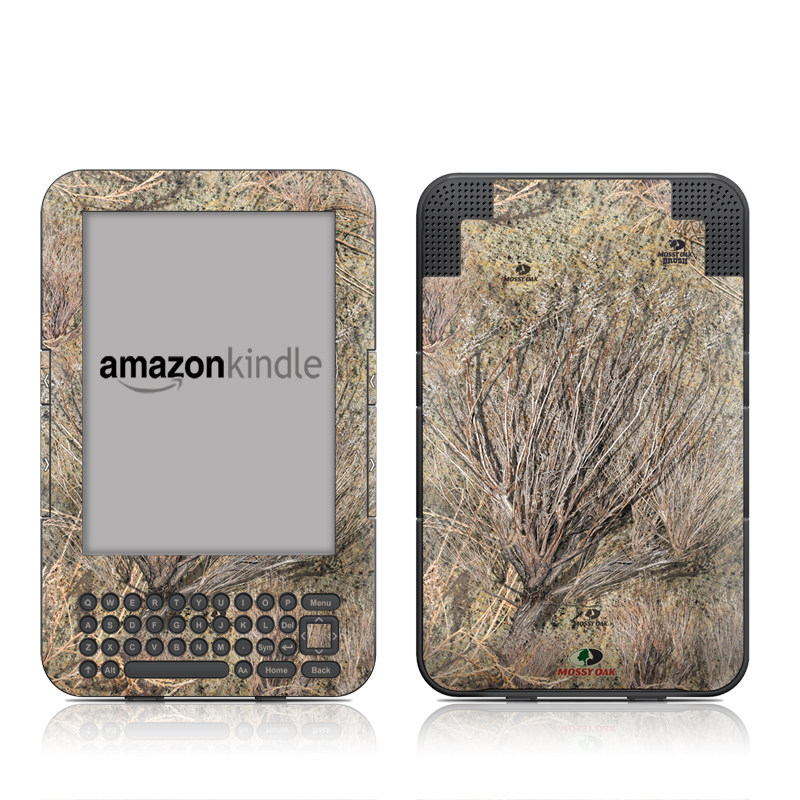 Amazon Kindle 3rd Gen Skin design of Tree, Grass family, Soil, Plant, Grass, Branch with gray, green, black, red colors