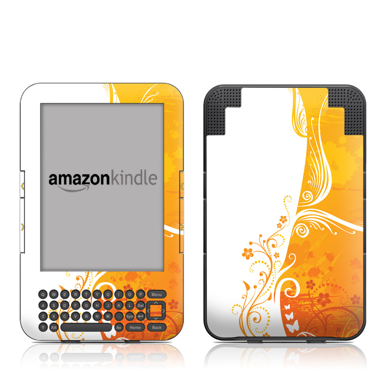Orange Crush Amazon Kindle Keyboard Skin