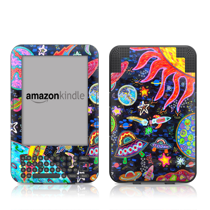 Out to Space Amazon Kindle Keyboard Skin