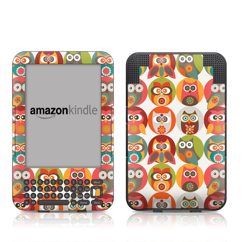 Owls Family Amazon Kindle Keyboard Skin