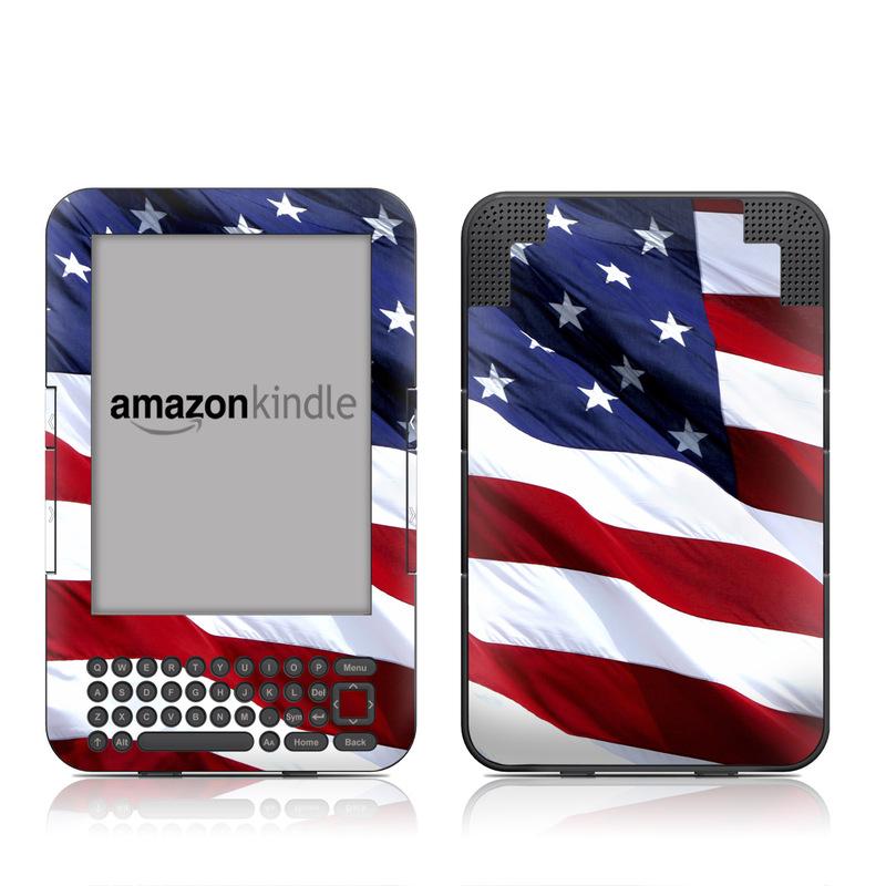 Patriotic Amazon Kindle Keyboard Skin
