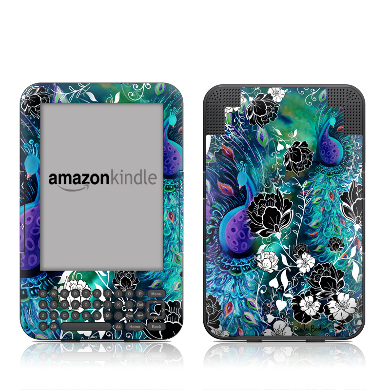 Peacock Garden Amazon Kindle Keyboard Skin