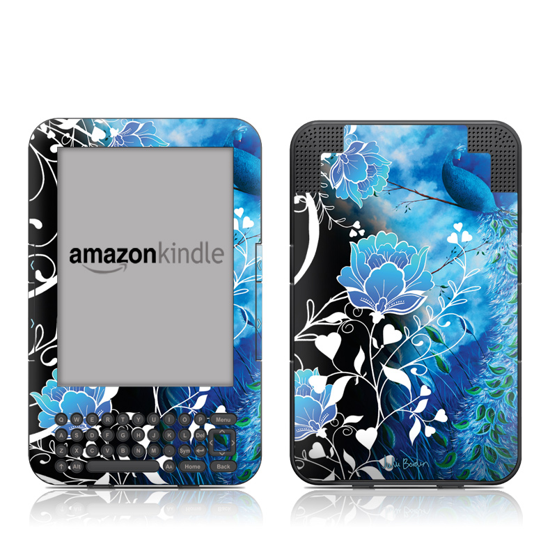 Peacock Sky Amazon Kindle Keyboard Skin