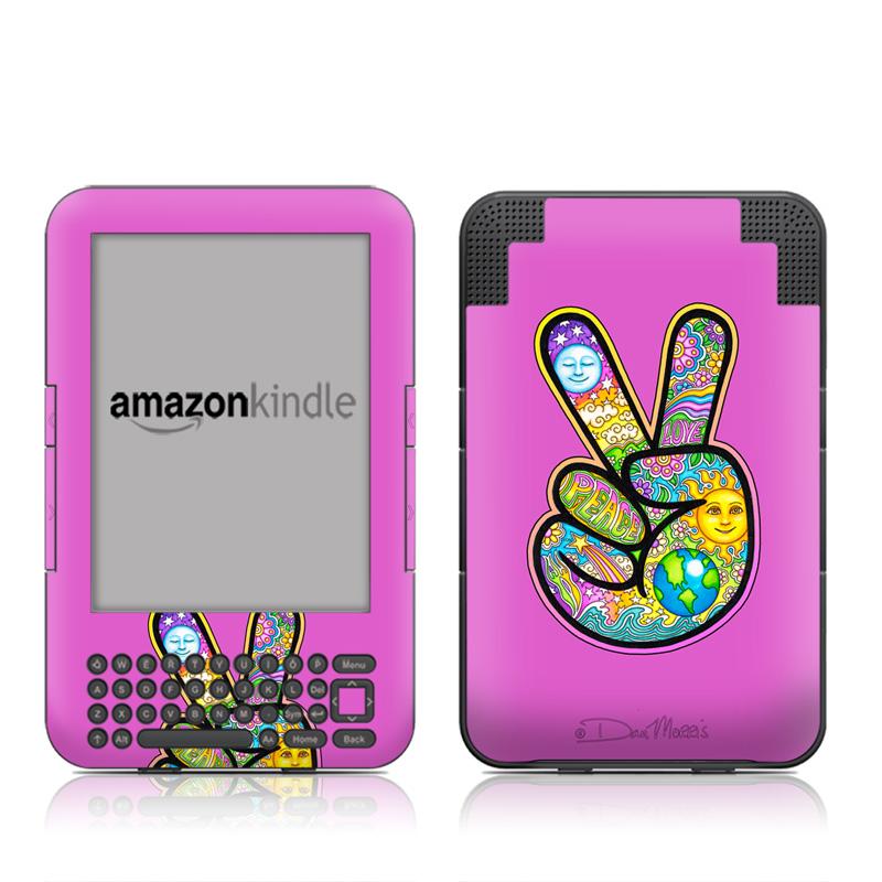 Peace Hand Amazon Kindle 3 Skin