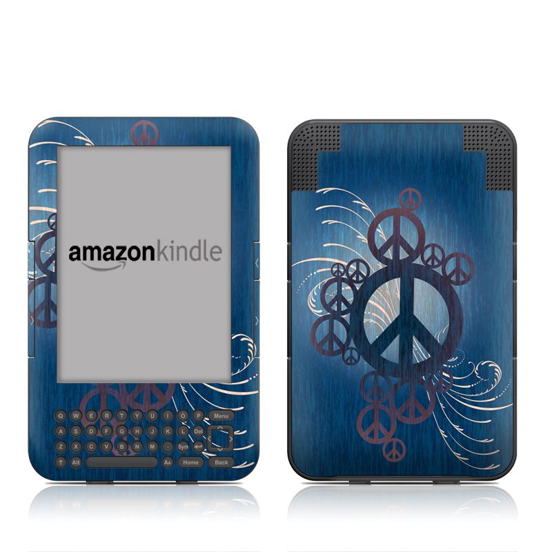 Peace Out Amazon Kindle Keyboard Skin