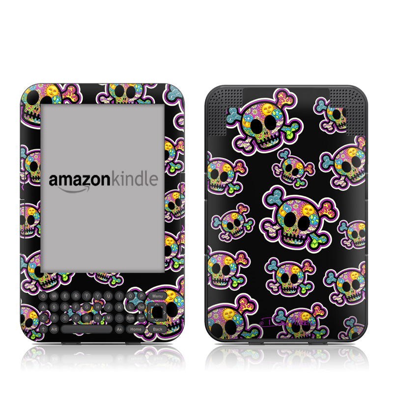 Peace Skulls Amazon Kindle Keyboard Skin