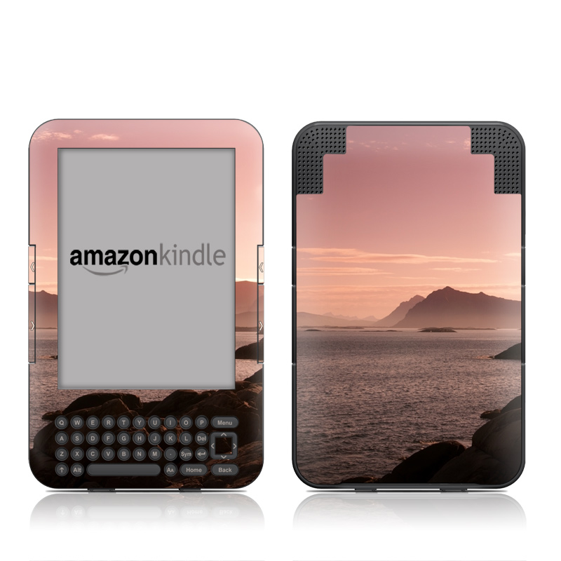 Pink Sea Amazon Kindle Keyboard Skin