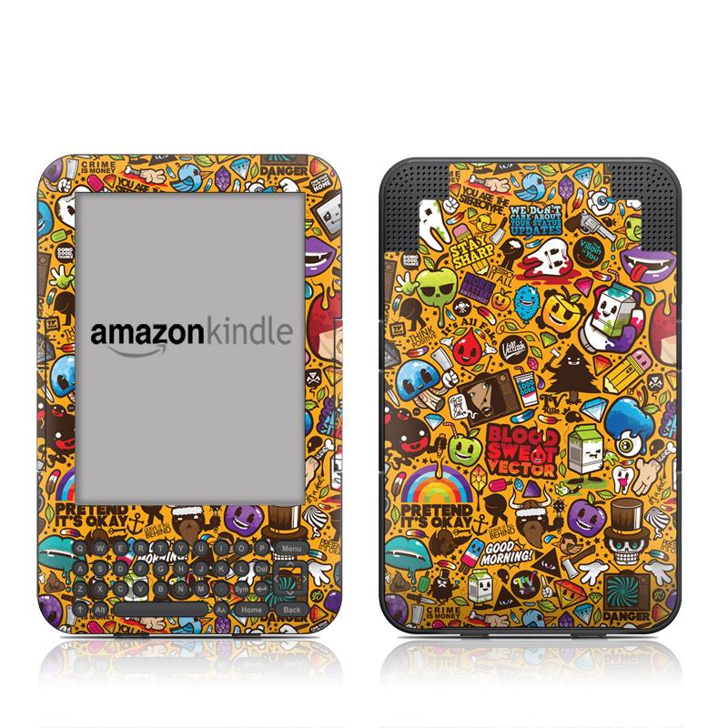 Psychedelic Amazon Kindle Keyboard Skin