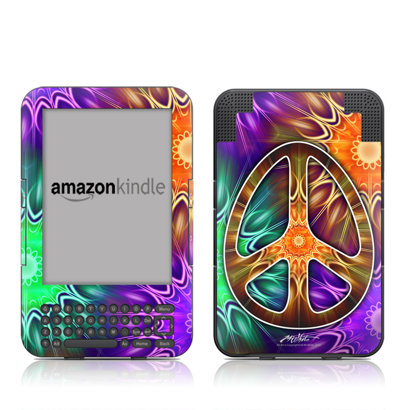 Peace Triptik Amazon Kindle Keyboard Skin