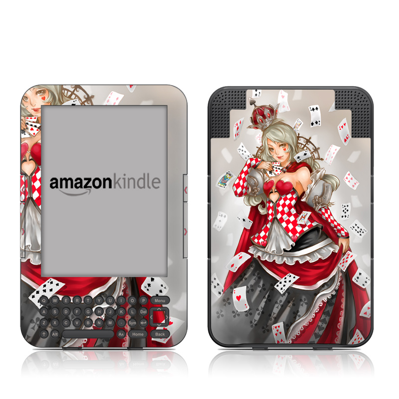Queen Of Cards Amazon Kindle 3 Skin