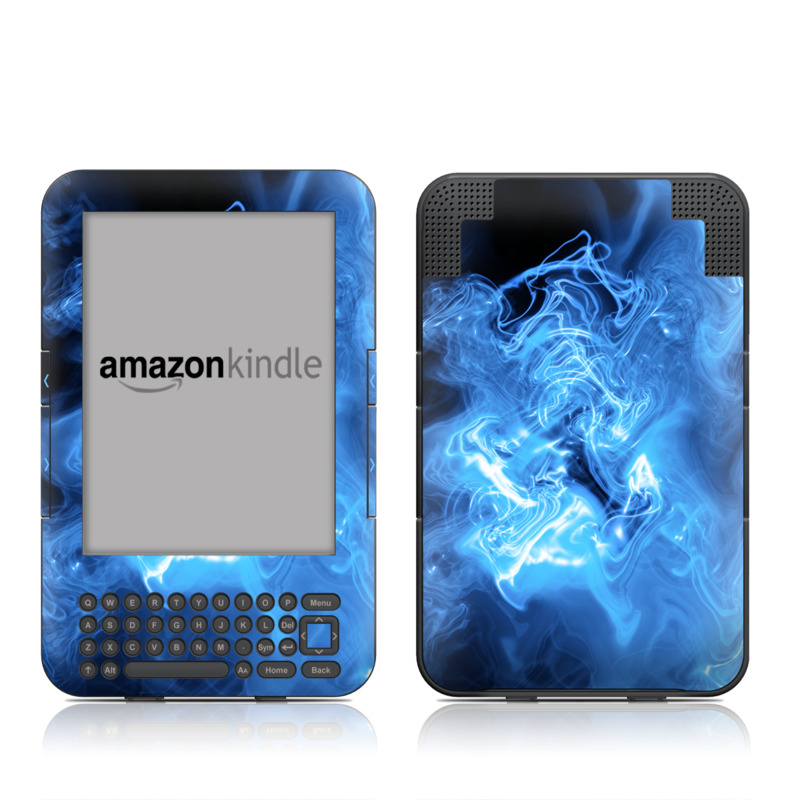 Blue Quantum Waves Amazon Kindle 3 Skin