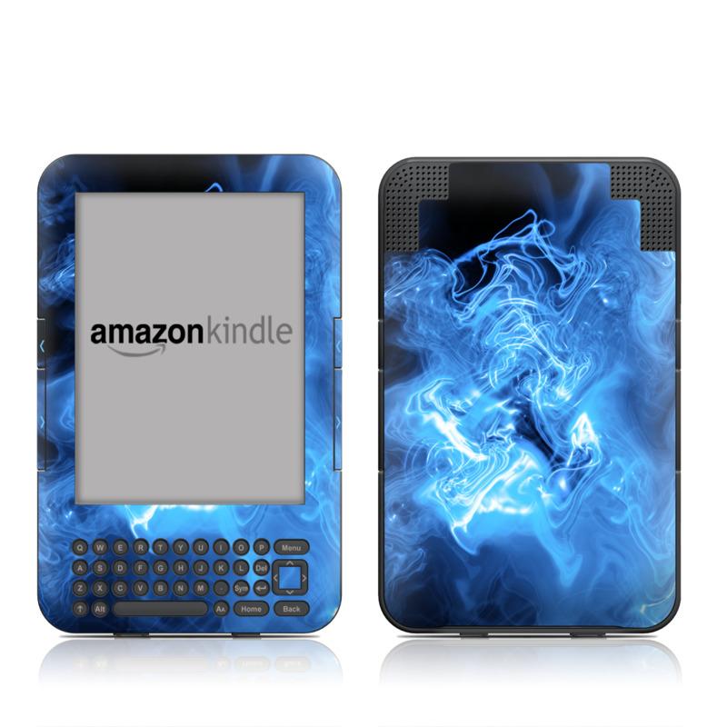 Blue Quantum Waves Amazon Kindle 3 Skin