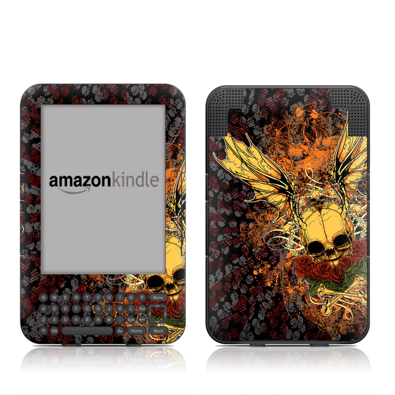 Radiant Skull Amazon Kindle 3 Skin