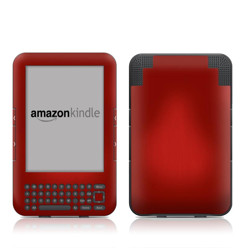 Red Burst Amazon Kindle Keyboard Skin