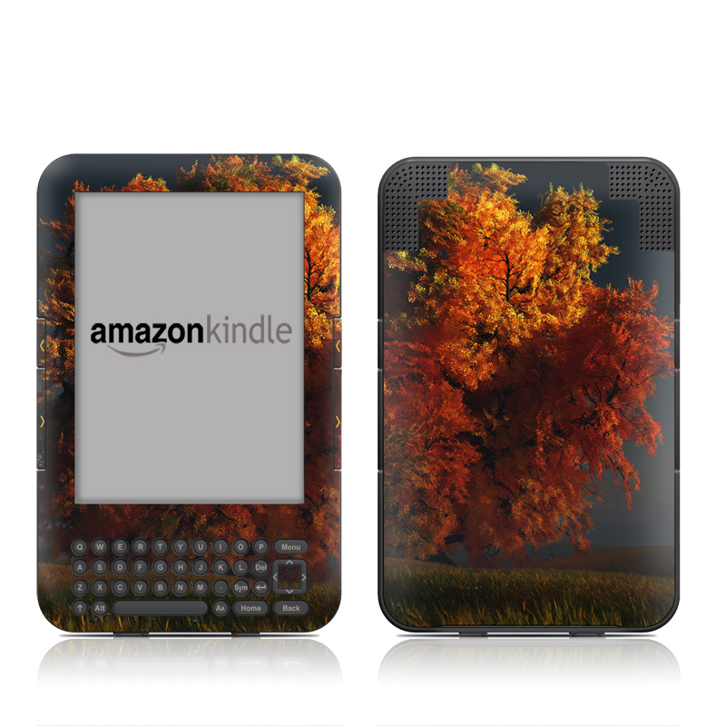 Red and Gold Amazon Kindle 3 Skin