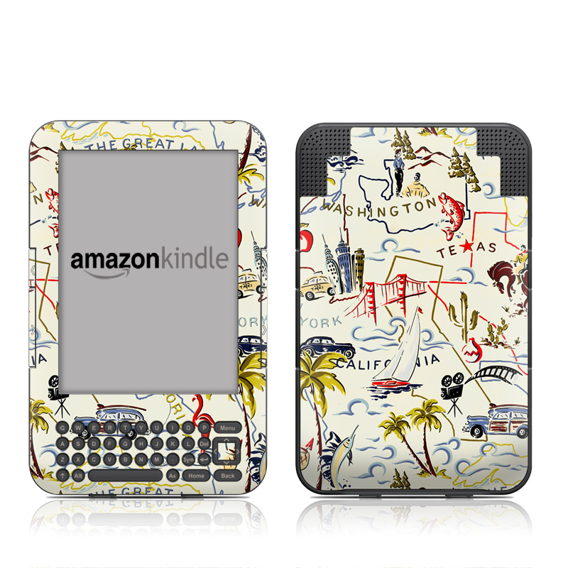 Road Trip Amazon Kindle 3 Skin